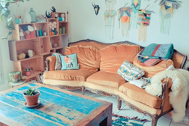Canapé et déco vintage