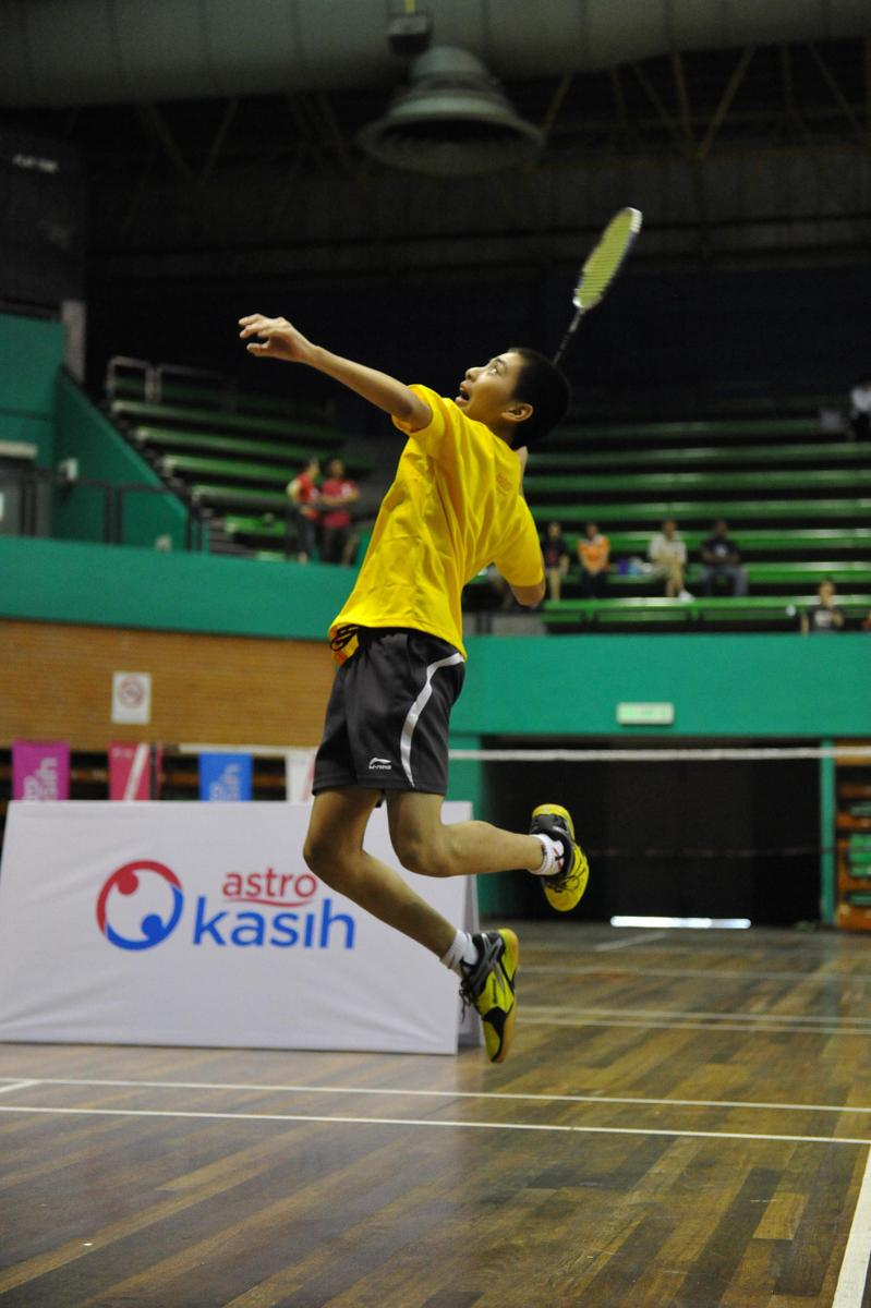 Salah seorang peserta terbaik pada siri Kem Badminton Astro tahun lepas