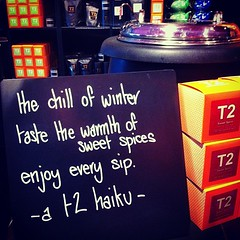 Wintery tea haiku