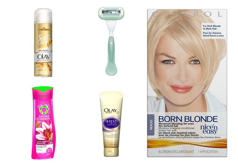 summer beauty giveaway, olay, venus, herbal essences, clairol, beauty products
