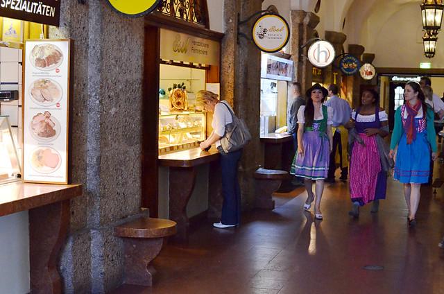 Food Hall, Augustiner Bräu, Salzburg, Austria