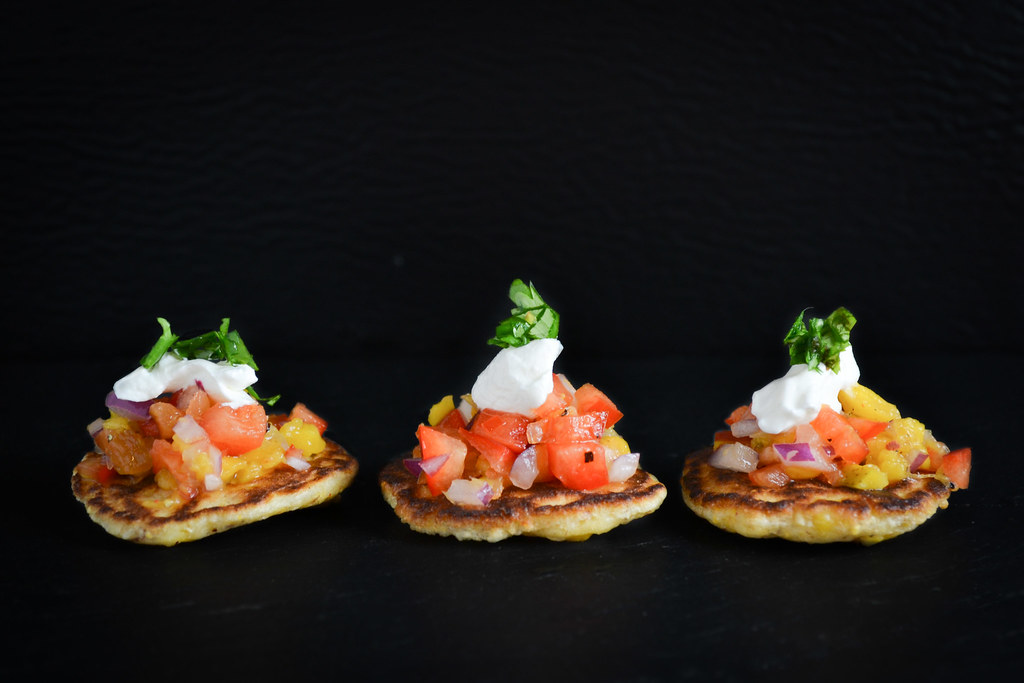 Corn Blinis with Mango Salsa | Things I Made Today