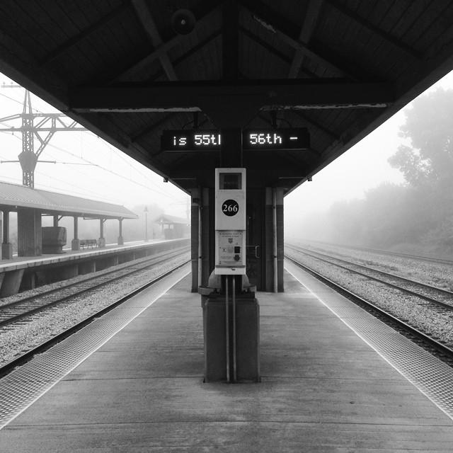 Foggy commute #hydeparkchicago