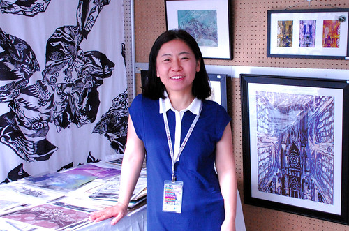 Sodam Lee wins Best of Show in Emerging Artist category at the 2014 Des Moines Arts Festival
