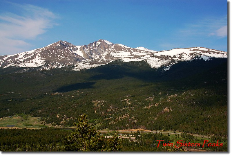 Twin Sister 步道遠眺Longs Peak and Mount Meeker