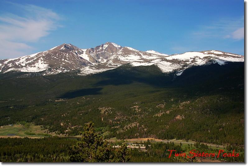 Twin Sister 步道遠眺Longs Peak and Mount Meeker