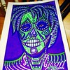Day of the Dead Series #9/9 :copyright: I couldn't help myself... I had to do another version for the Port Townsend School of Art's Day of The Dead Alter and Celabration:purple_heart::green_heart::purple_heart: #dayofthedead #ptsa #artbyMicheleMQuam#ChelM