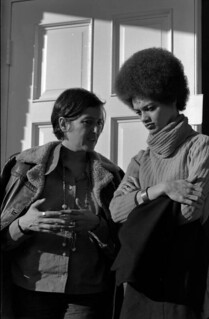 Kathleen Cleaver listens to an unidentified woman - Tallahassee