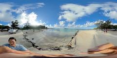 Kailua Beach Park, Kailua, Oahu, Hawaii - a 360 degree equirectangular VR taken at 5:04pm HST