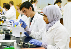Oklahoma State University undergraduates conduct experiments to isolate strains of bacteria in their microbiology class. The work of OSU undergrads led to the identification of novel strains of bacteria. The work resulted in students being recognized as co-authors on several scientific journal articles.