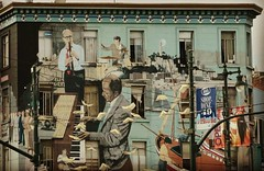 #sanfrancisco #mural, 606 Broadway, xn of Columbus and Broadway. Pianist is Turk Murphy...