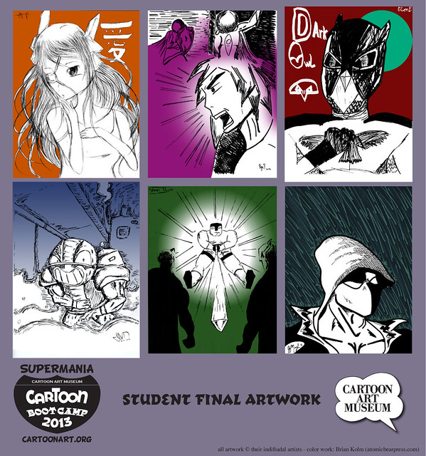 Cartoon Boot Camp: SuperMania final student work (with color added)