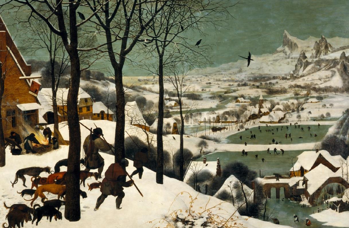 Cazadores en la nieve. Obra de Pieter Bruegel el Viejo (1525-1569)