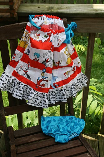 Dr. Seuss pillowcase dress and diaper cover