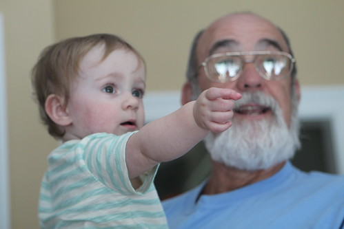 Martin Pointing with Grandpa