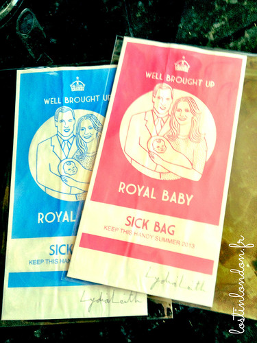 royal baby sick bag