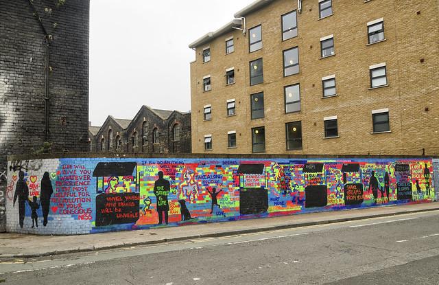 Braithwaite Street mural - Shoreditch, East London