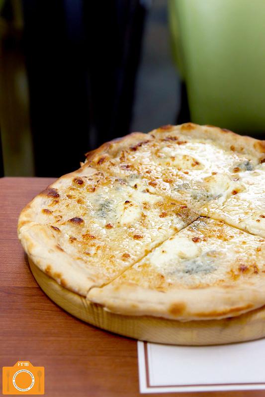 Mesclun Bistro Four Cheese Sourdough Pizza