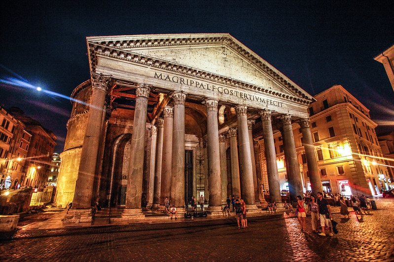Pantheon, Rome, language