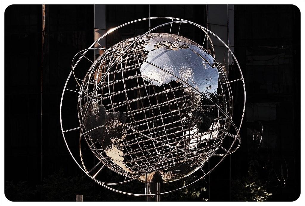 new york columbus circle globe