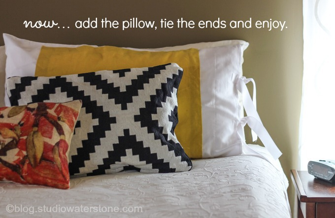 DIY color blocked pillow sham