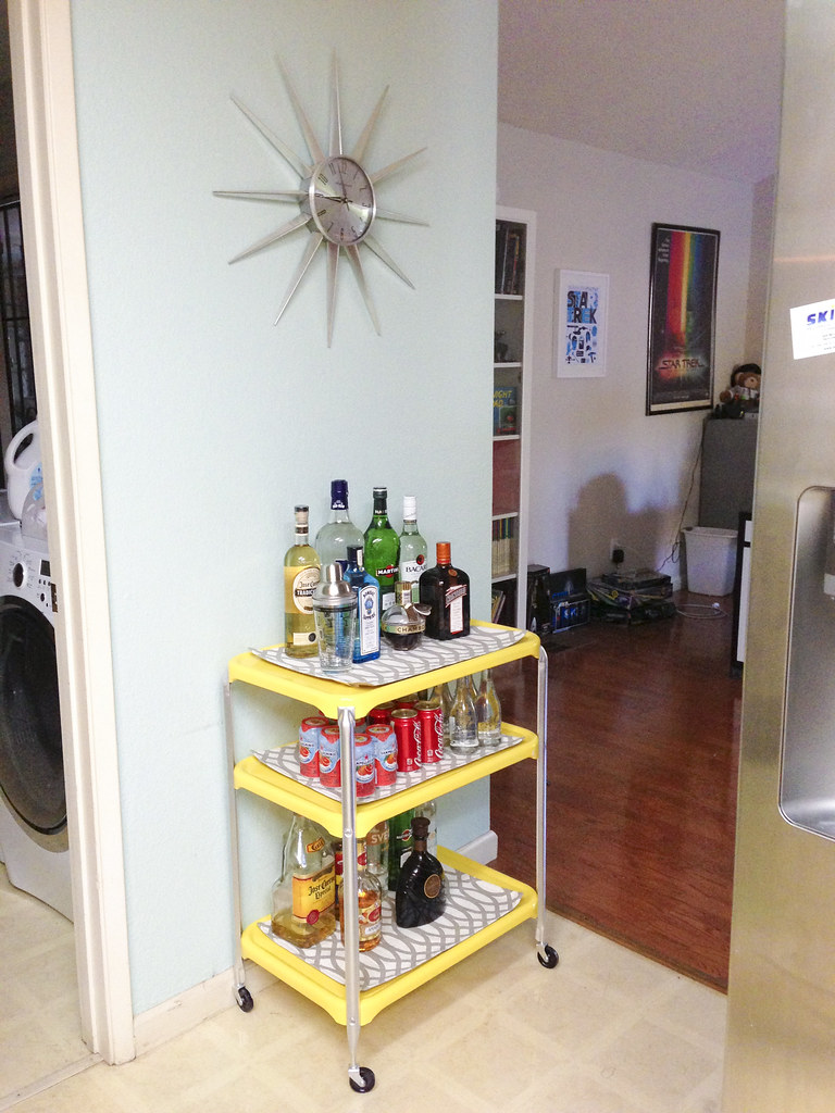DIY Bar Cart #thelovelygeek