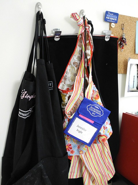 Aprons on 3M Command Hooks