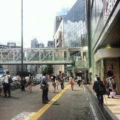 Shinjuku station. 27C and humid