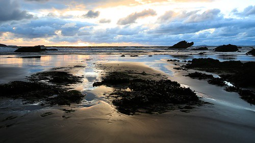 Broad Haven Sunset II by TheUnseenScene (previously AnnerleyIRMacro)