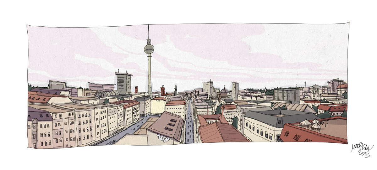 Alberto Madrigal Berlin cityscape