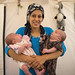 Syrian Refugee Woman With Her Twins Babies, Erbil, Kurdistan, Iraq by Eric Lafforgue