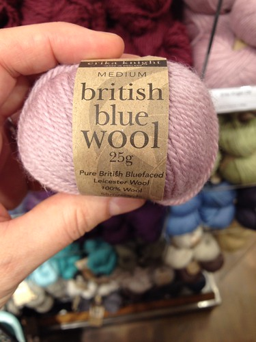 Helping Mum select wool