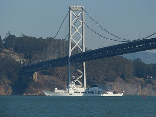 The BNS Somudra Joy, formerly the Coast Guard Cutter Jarvis, departs Alameda, Calif., Saturday, Oct. 26, 2013. The BNS Somudra Joy is the first Coast Guard high endurance cutter transferred to the Bangladesh navy. U.S. Coast Guard photo