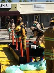 LAFD Handles a Haz-Mat Fire in San Fernando