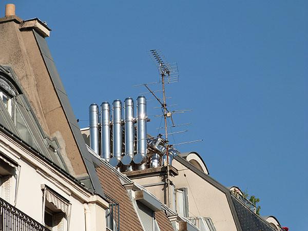 cheminées de la rue Claude Bernard