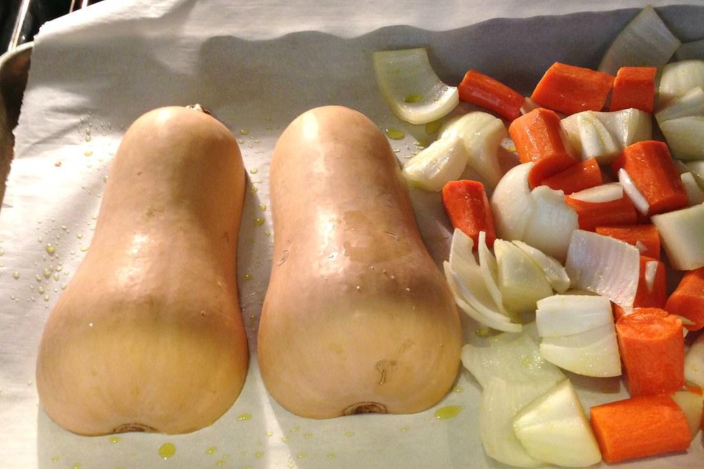 Butternut Squash & Carrot Soup - Oven 4x6
