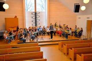 Lilla Brassbandfestivalen 2013 - Repetition i Åsenhöga Missionskryka