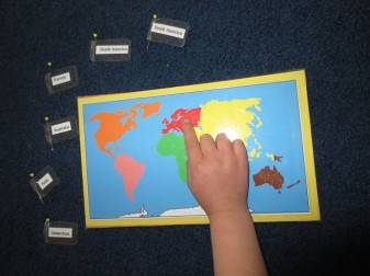 Continent Map Work (Photo from The Homeschool Den)