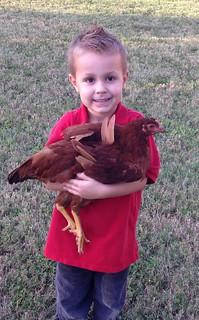 Boy with Hen