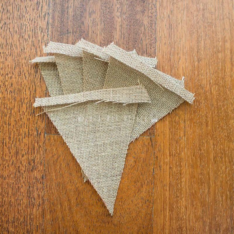 DIY banderola tela saco