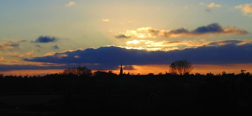 Sunset over Wickham Market