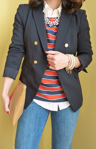 navy + stripes