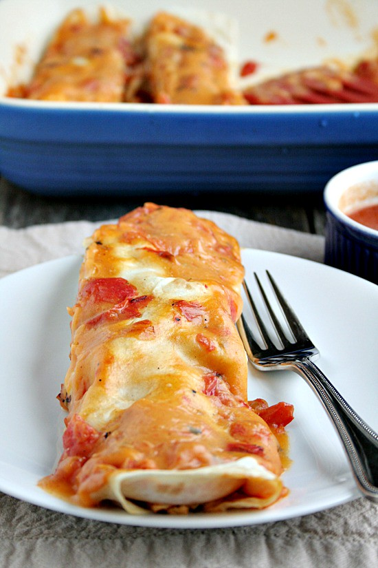 Easy Chicken and CheeseEnchiladas