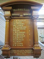 Wild Horse Plains World War One Honor Roll