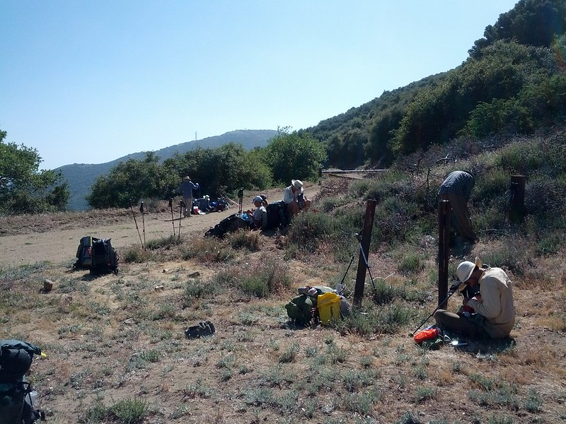 Hikers rest and sort out water plans