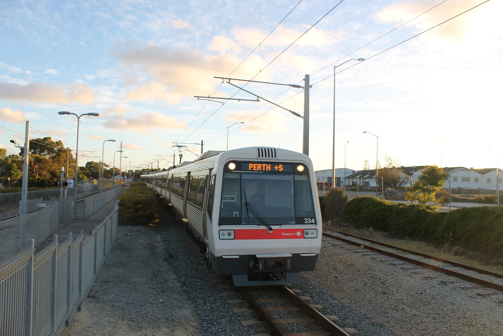 A series set 34 arrives at North Fremantle en route to Perth by Jeremy Dodds