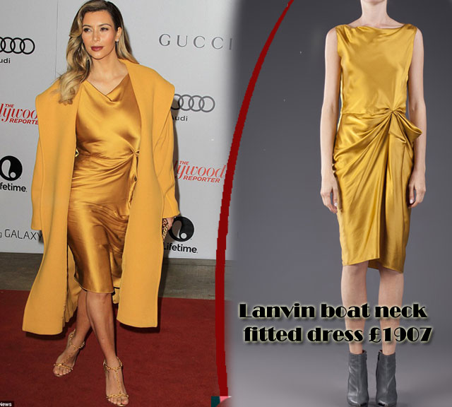 Lanvin-gold-drape-silk-dress, Drape dresses, Lanvin Mustard yellow silk dress, Mustard yellow silk dress, Lanvin Drape dresses