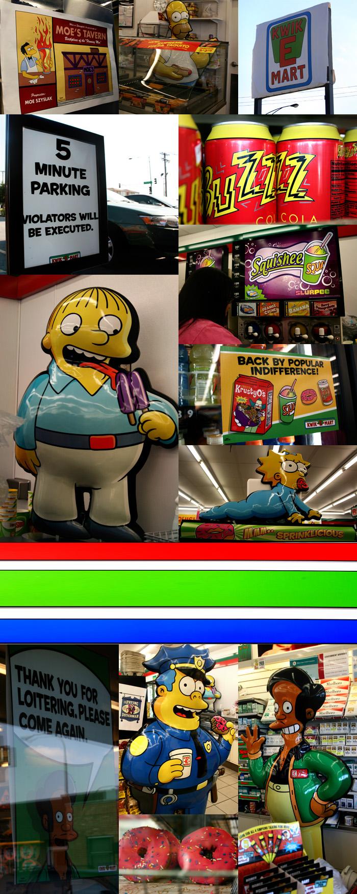 The Simpsons Kwik E Mart 7-11 in Chicago, Illinois in Chicago, Illinois
