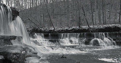 winter water creek waterfalls hdr browncountyoh bullskincreek