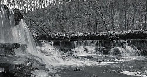 winter water creek waterfalls hdr browncountyoh bullskincreek